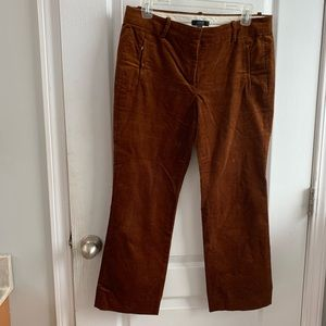 JCrew corduroy cropped trousers size 6